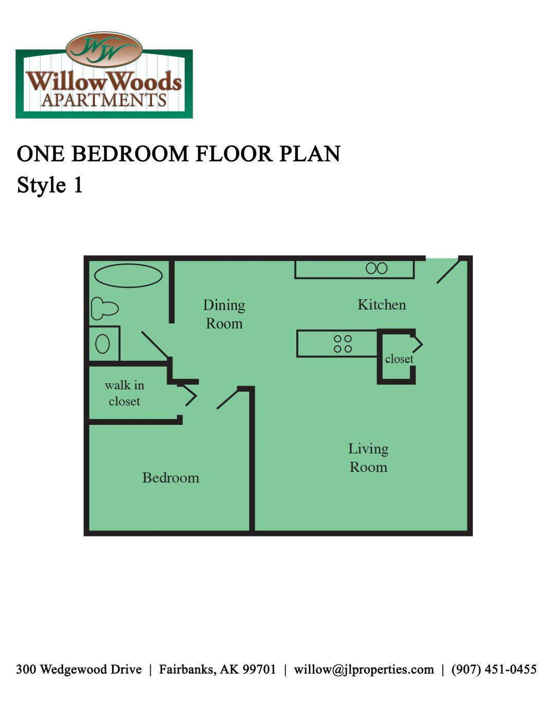 One Bedroom - Style 1
