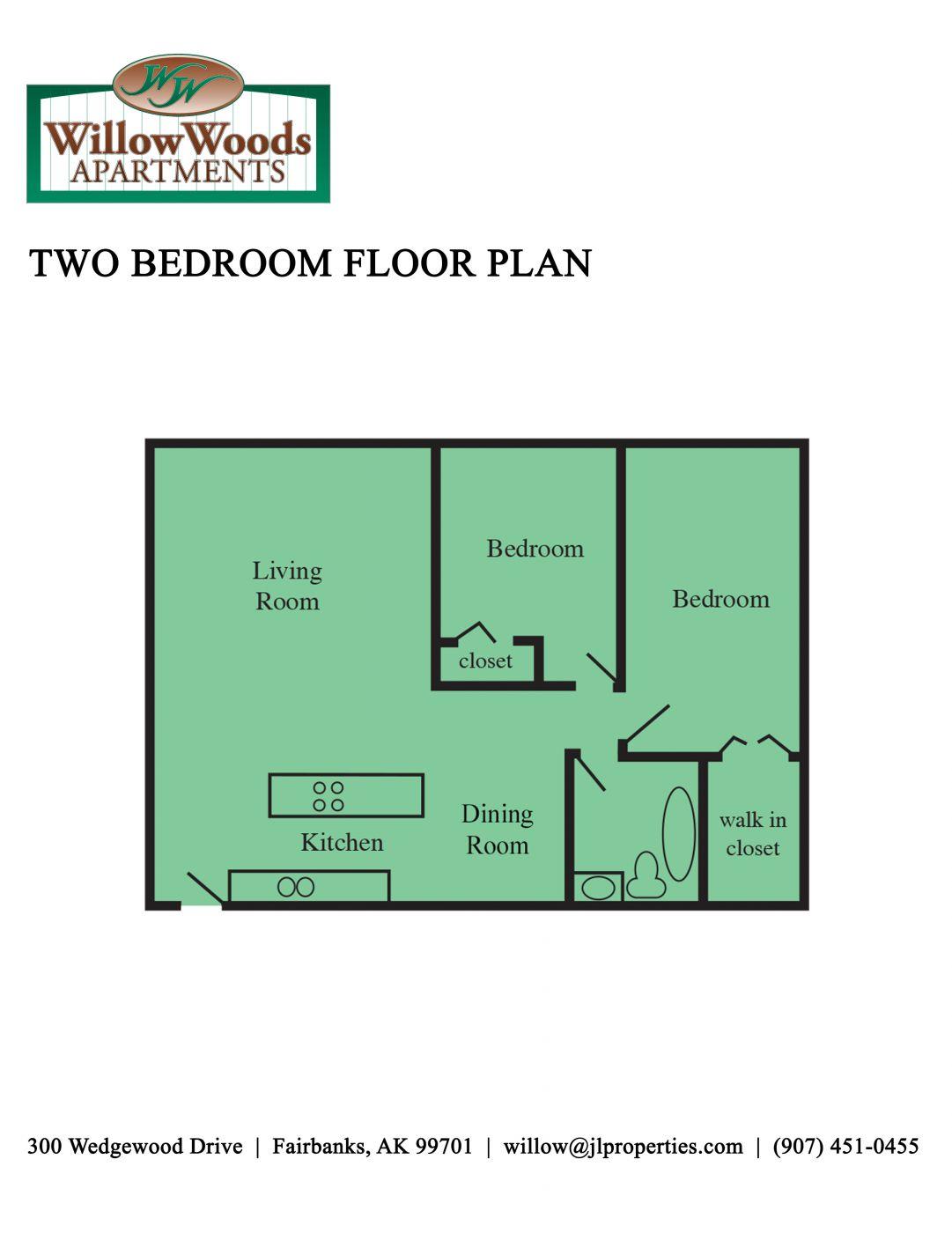 Fairbanks Alaska Apartments | Willow Woods Apartments | Two ...